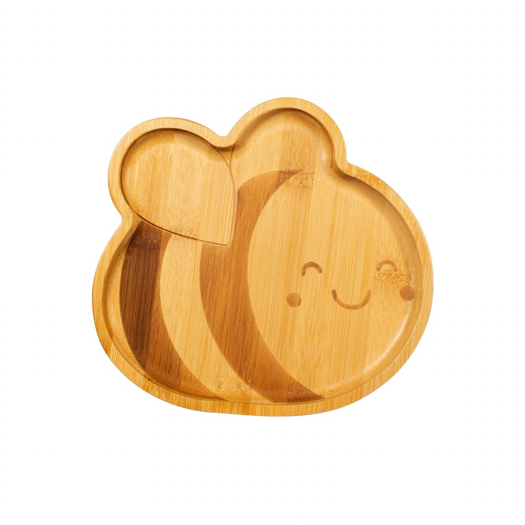 JQY031 A Bee Bamboo Plate