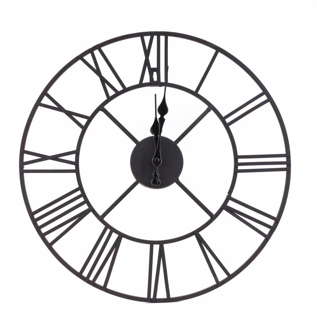 176 2 nastenne cerne hodiny s rimskymi cislicemi