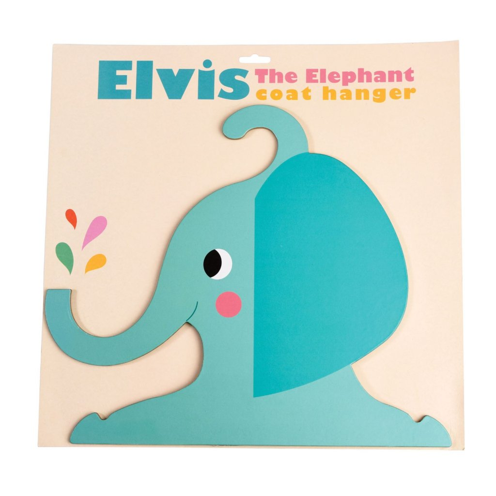Věšák do dětského pokoje ve tvaru slona Elvis The Elephant