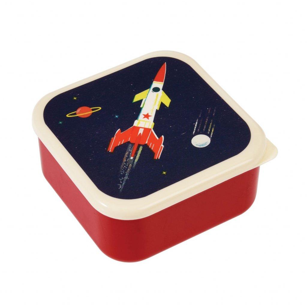 Sada 3 svačinových boxů s vesmírným motivem Space Age