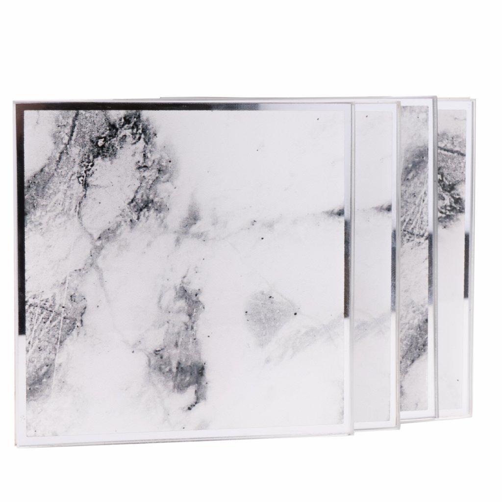191 sklenene podtacky s motivem mramoru 4ks