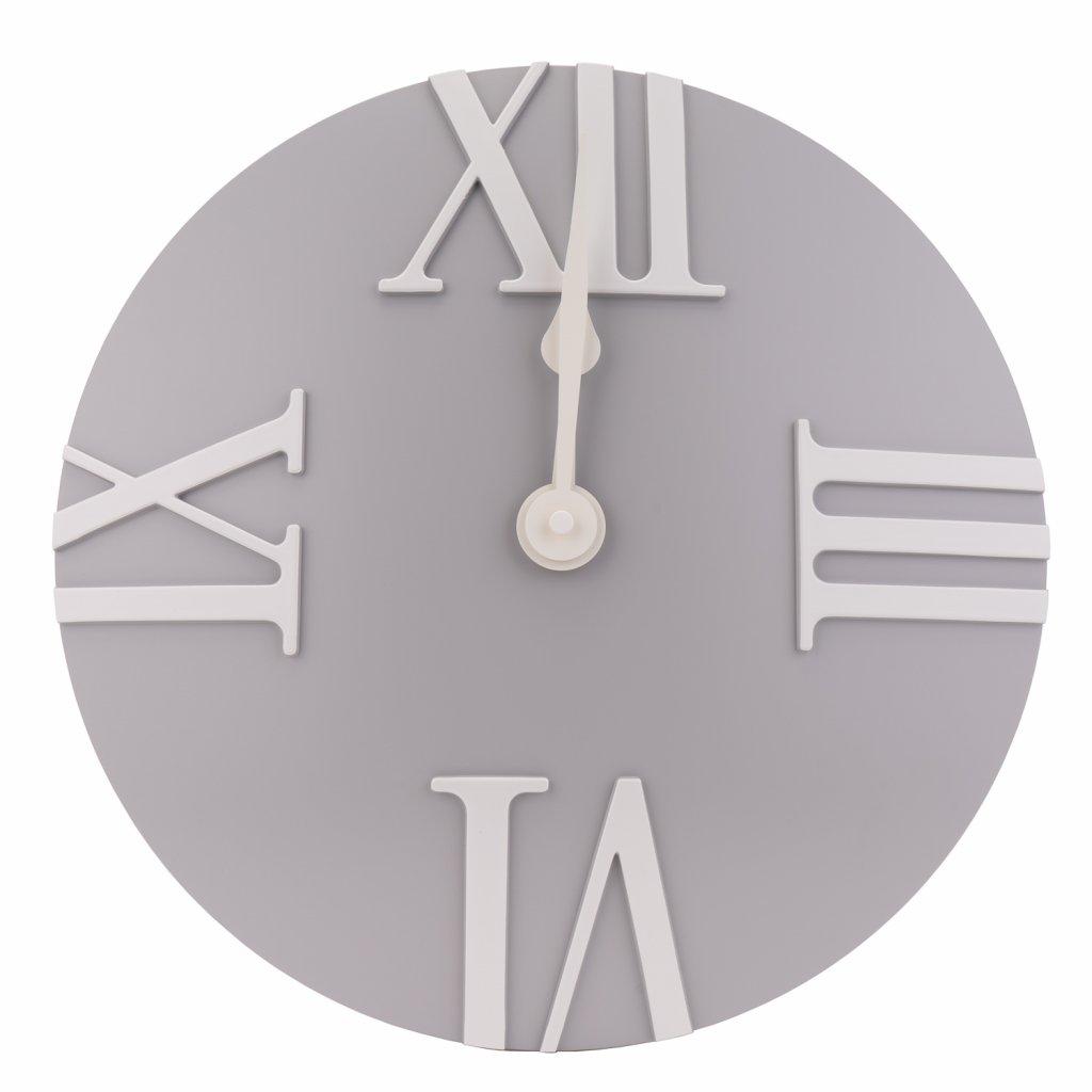 209 nastenne moderni hodiny sede barvy s rimskymi cislicemi