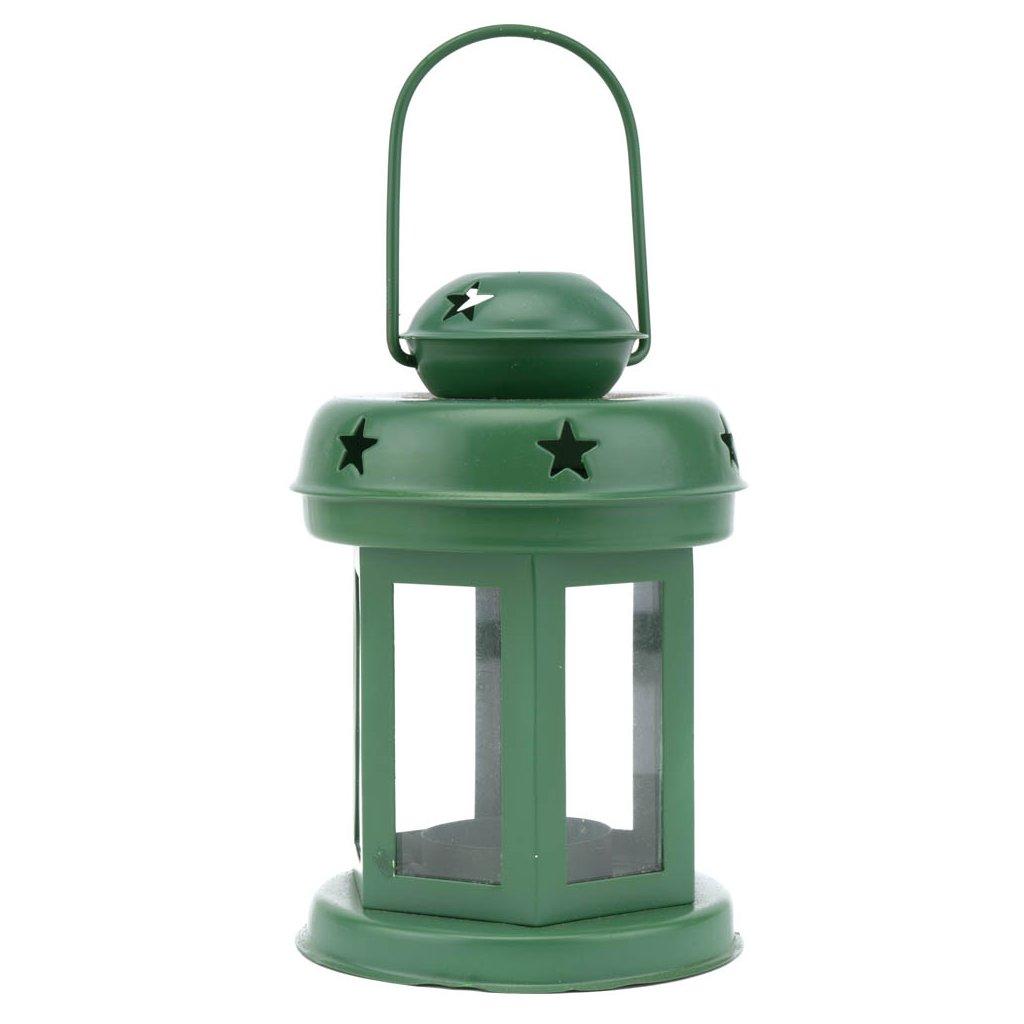 303 mala prosklena lucerna zelene barvy