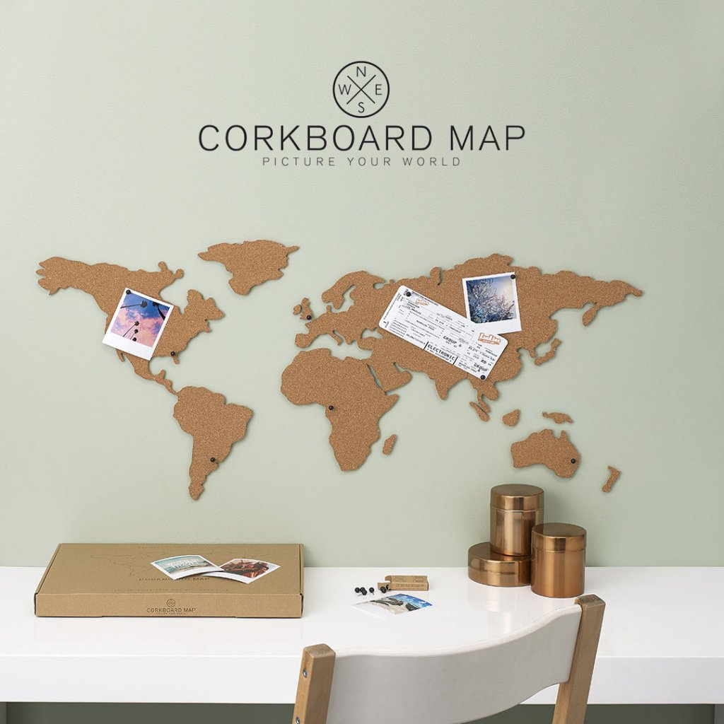 CORKBOARD MAP 1 1