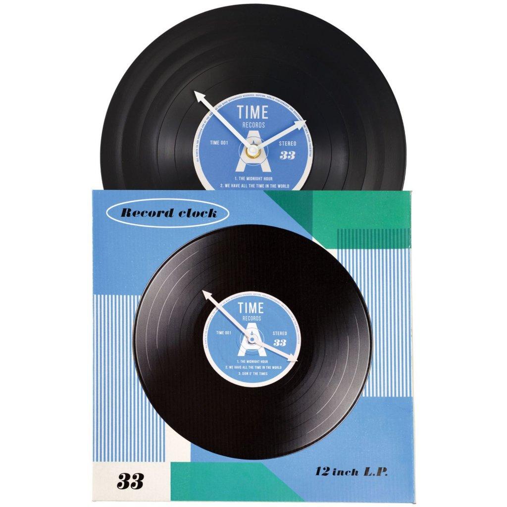 Nástěnné hodiny ve tvaru gramofonové desky