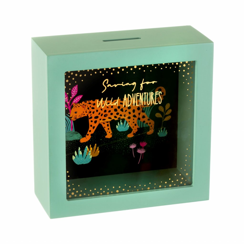 AD212 A Leopard Love Money Box Side