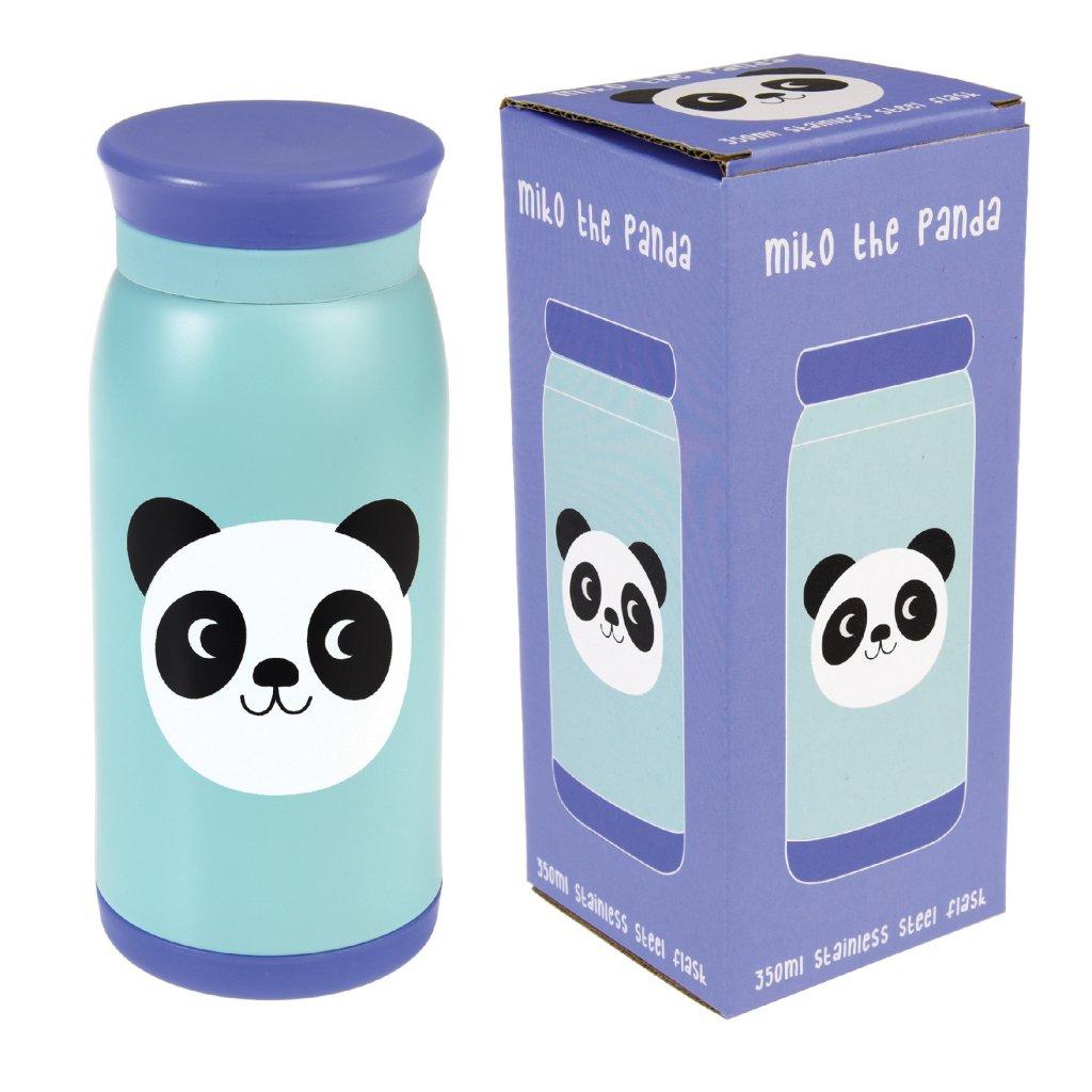 4847 3 modra nerezova lahev s pandou miko the panda