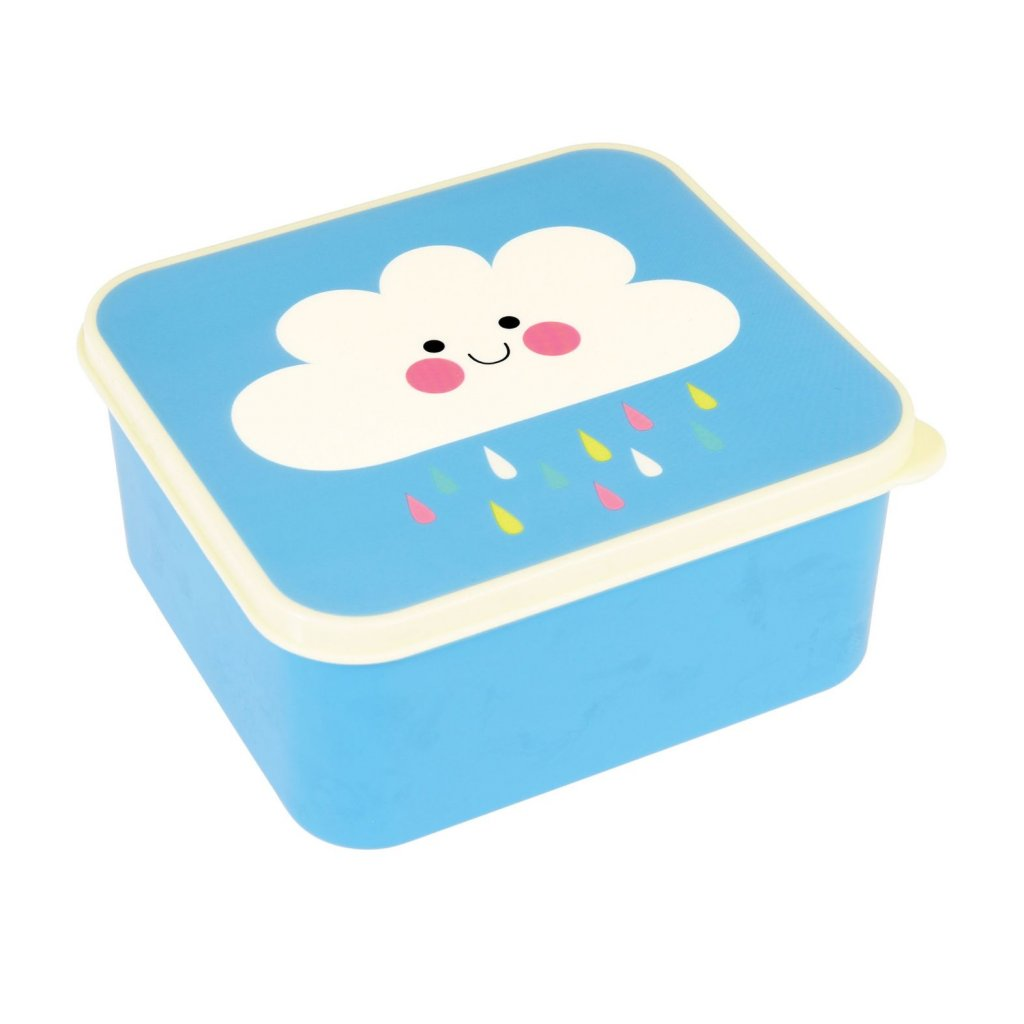 4859 2 4859 1 modry svacinovy box s motivem mracku happy cloud