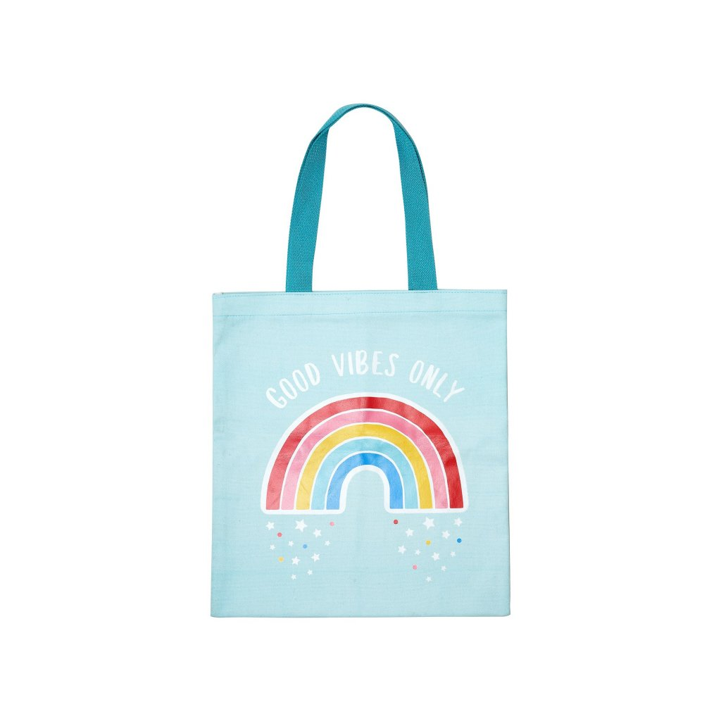 EVA069 A Chasing Rainbows Good Vibes Only Tote Bag