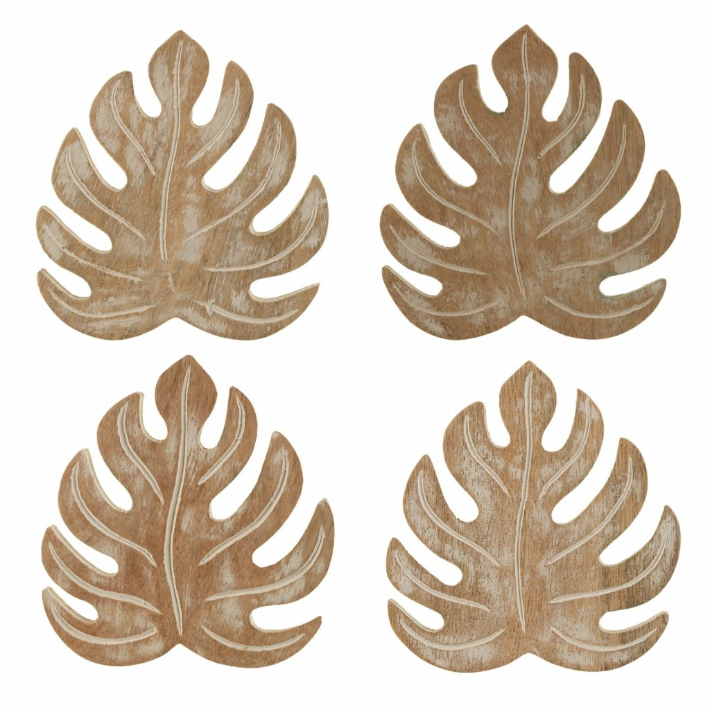 5054 2 sc125 a wooden cheese plant coaster set of 4 set
