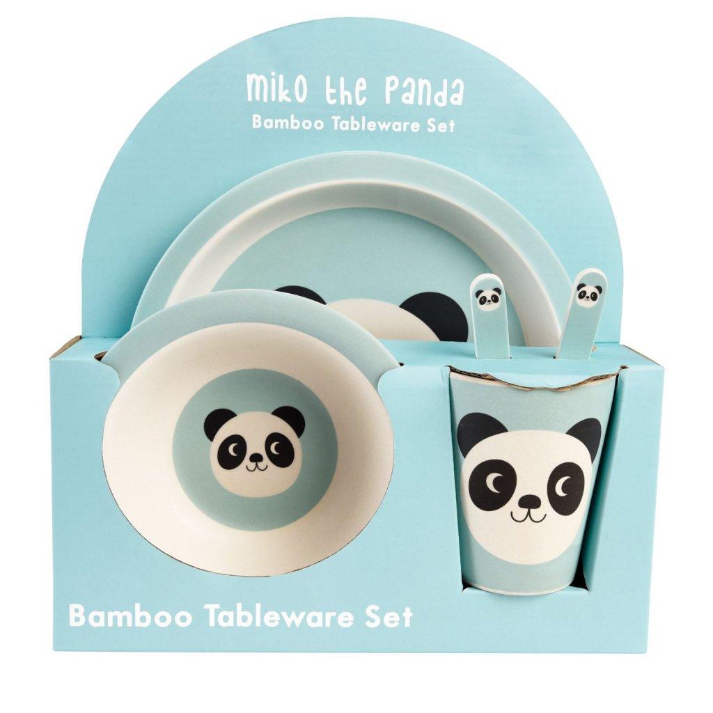 5216 2 5216 sada detskeho bambusoveho nadobi s motivy pandy miko the panda