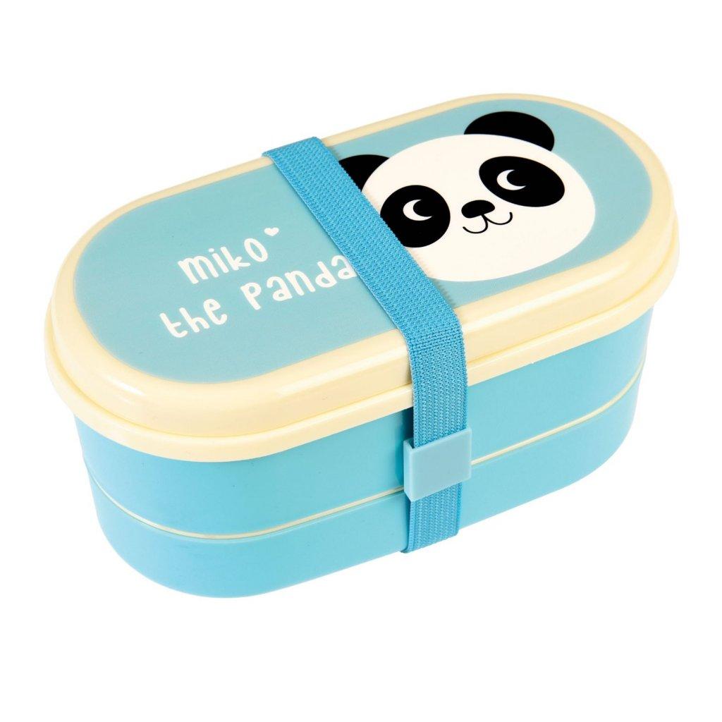 5219 3 5219 2 modry box na obed s priborem a motivem pandy miko the panda