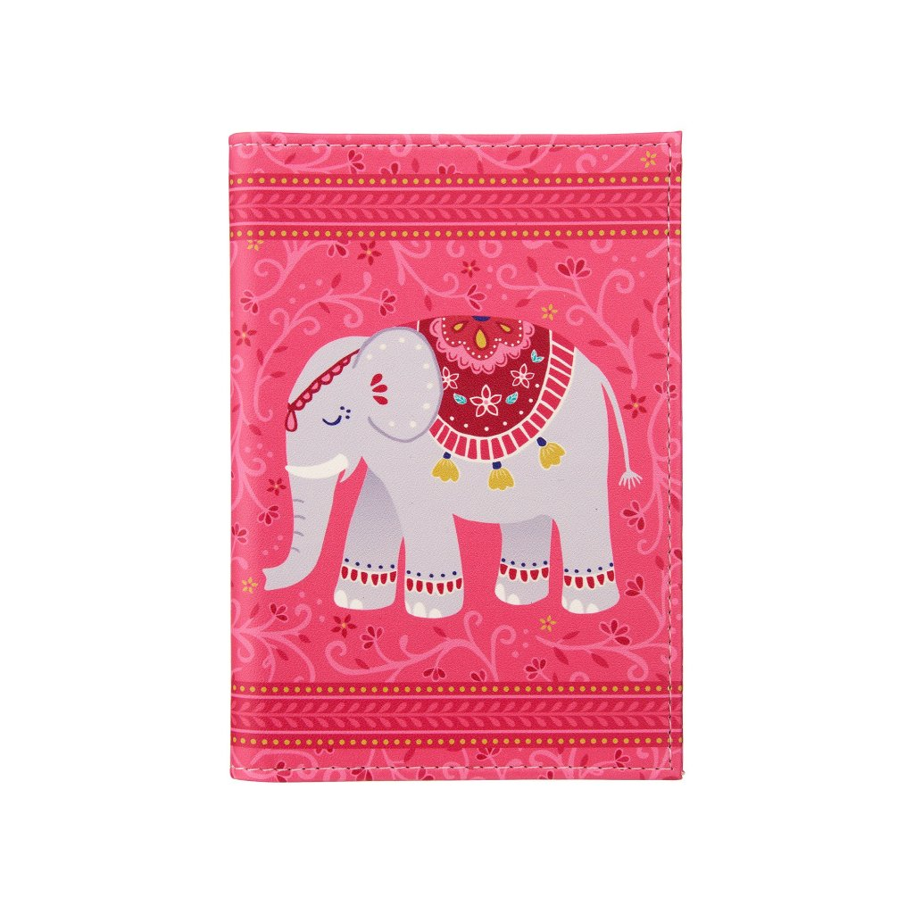 FRAN105 A Mandala Elephant Passport Holder
