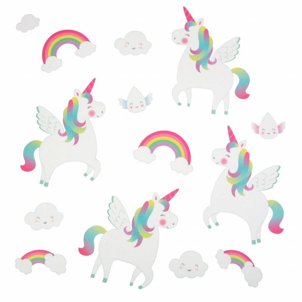5381 2 yee002 a rainbowunicorn wallstickerset front