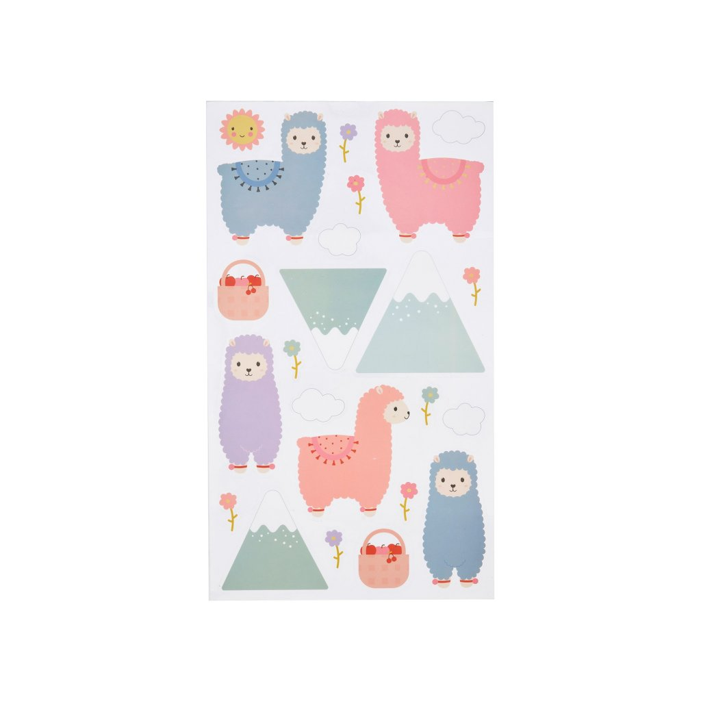 YEE004 A Little Llama Wall Stickers