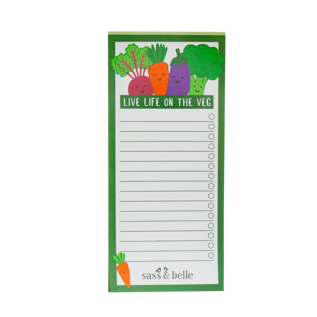 5387 5 note048 a live life on the veg list notebook