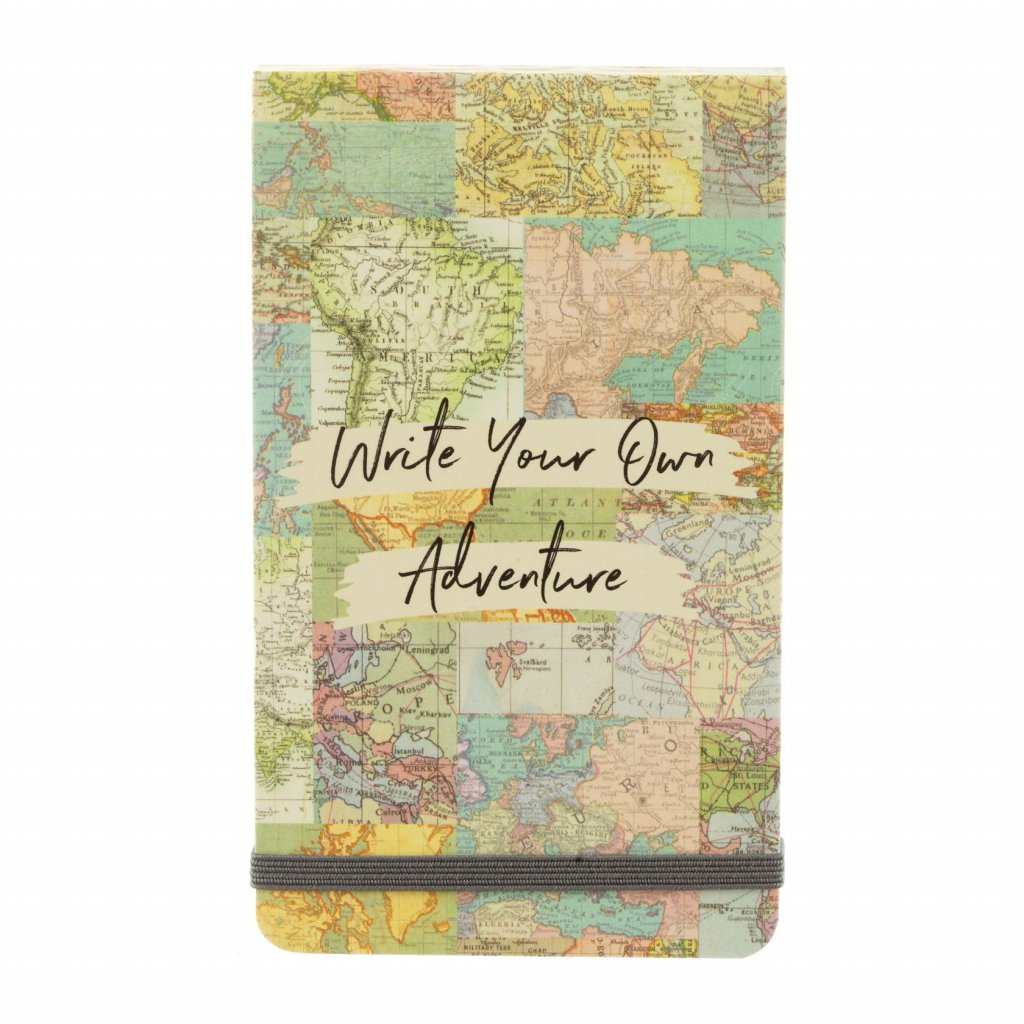5390 5 note041 a vintage map collage flip notebook front