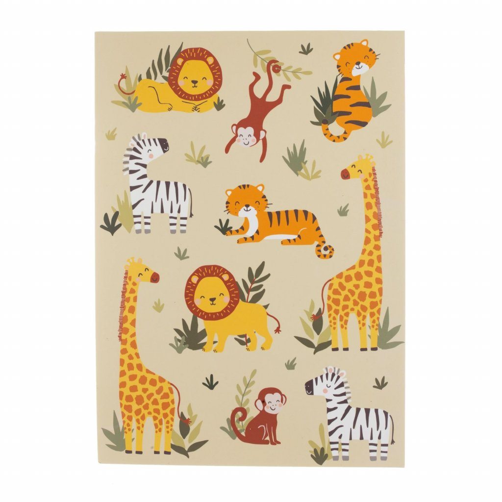5396 5 note046 a savannah safari a4 notebook front