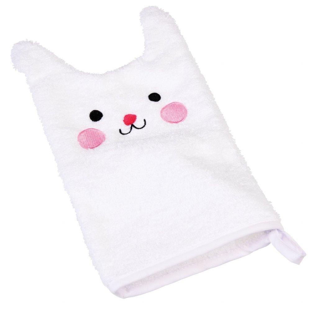 5609 bila bavlnena koupaci rukavice s motivem kralicka bonnie the bunny