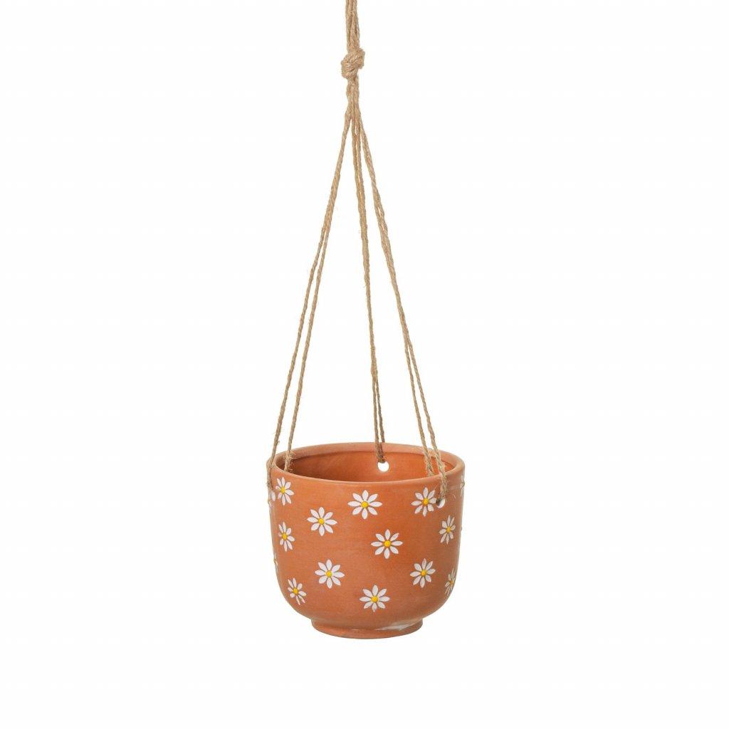 5624 1 ten024 hanging mum terracotta planter a