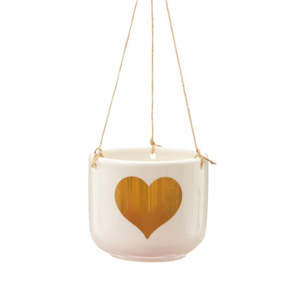 5633 3 xdc395 b gold heart hanging planter