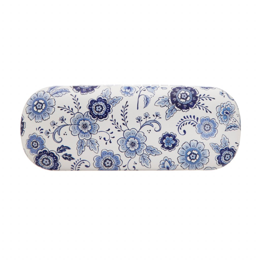 LOU041 A Blue Willow Floral Glasses Case