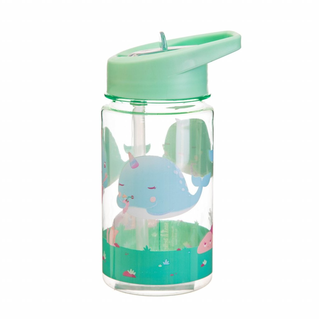 ZIP041 B Drink Up Alma Narwhal Water Bottle Back