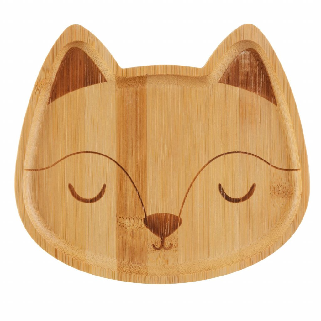 JQY002 A Woodland Fox Bamboo Plate