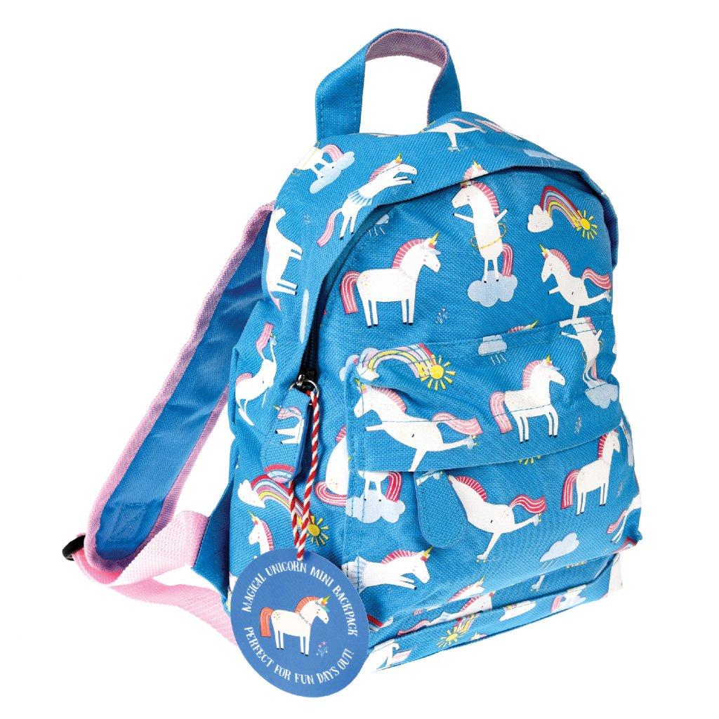 Modrý dětský batoh s motivy jednorožců Magical Unicorn