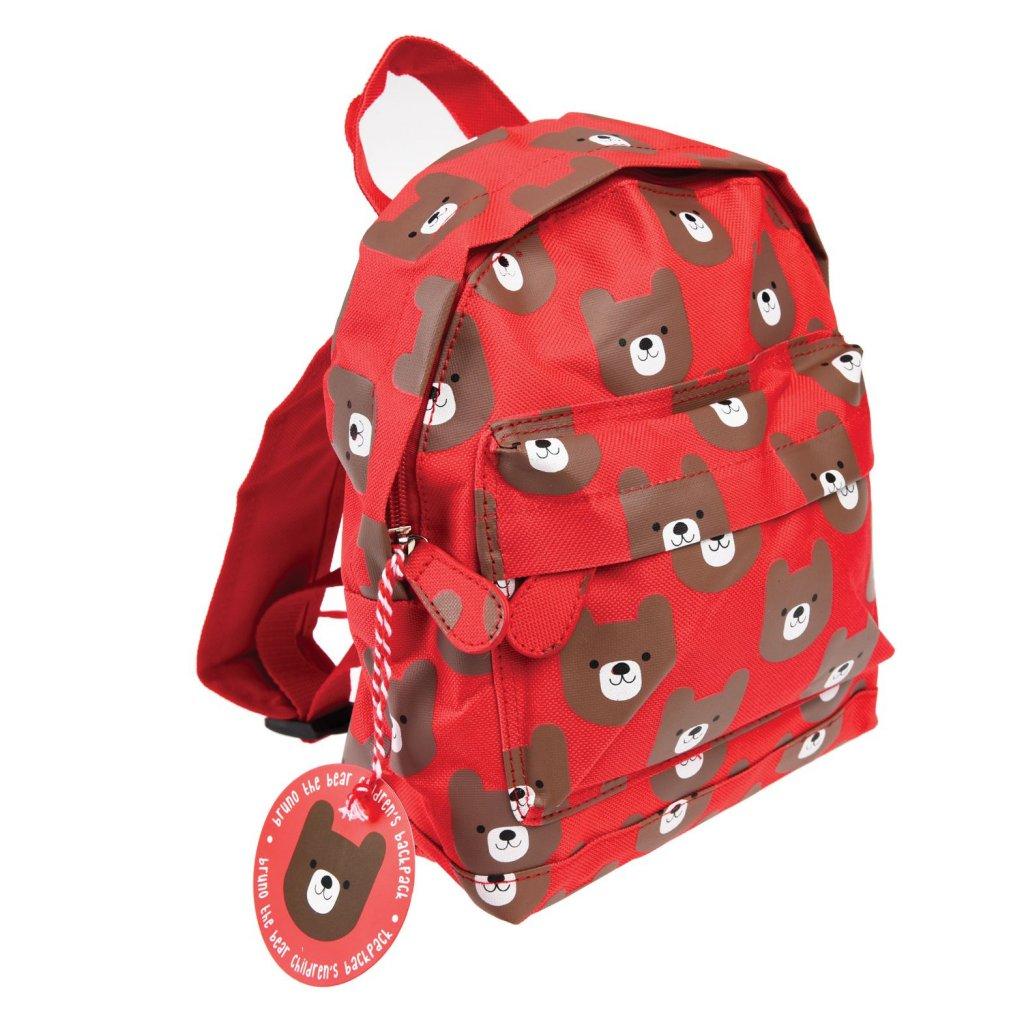 Červený dětský batoh s motivy medvěda Bruno The Bear