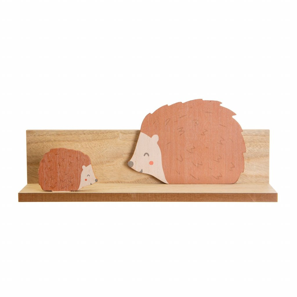 IFF011 A Woodland Friends Hedgehog Shelf Front