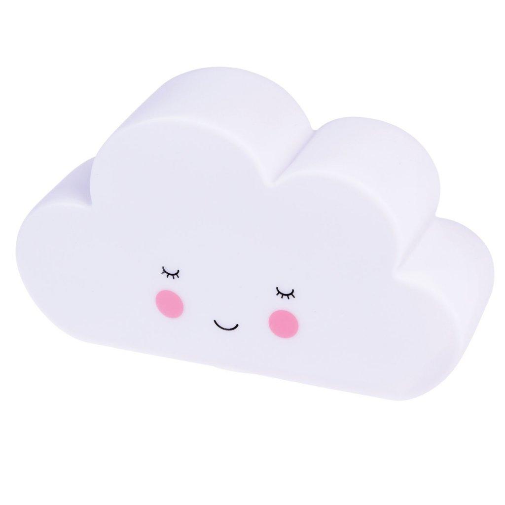 Dětské noční LED světýlko s vypínačem ve tvaru mráčku White Cloud