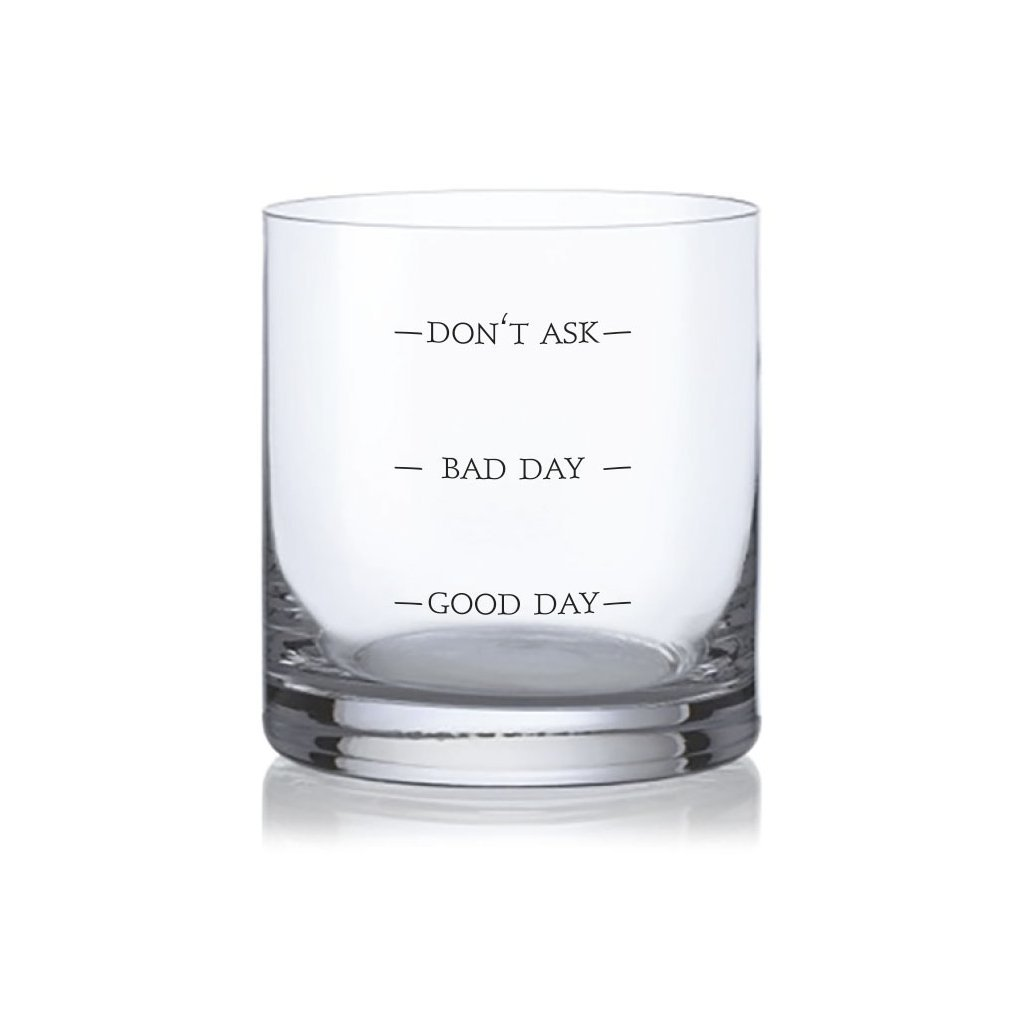 whisky sklenice bad day