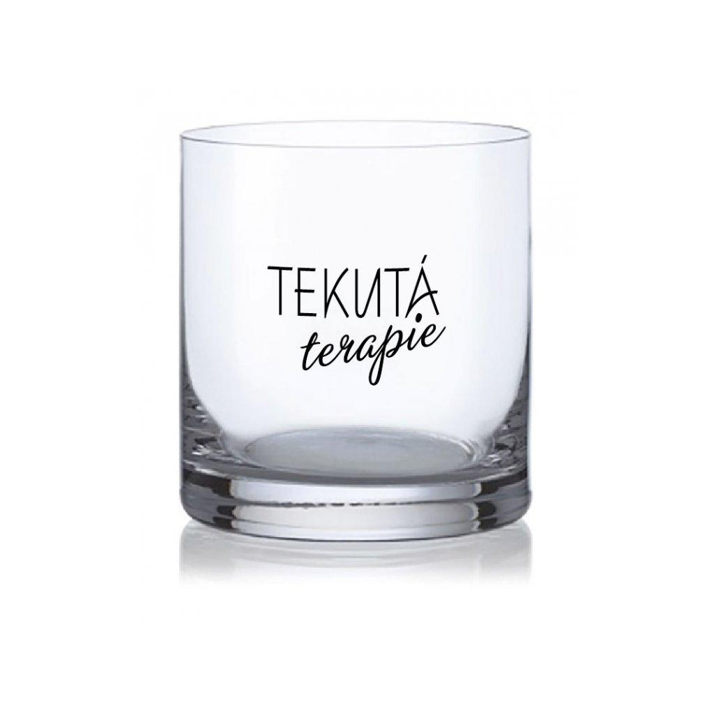whisky sklenice tekuta terapie