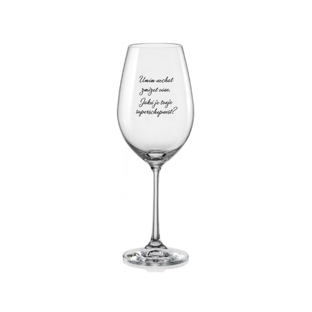 sklenice na vino umim nechat zmizet vino