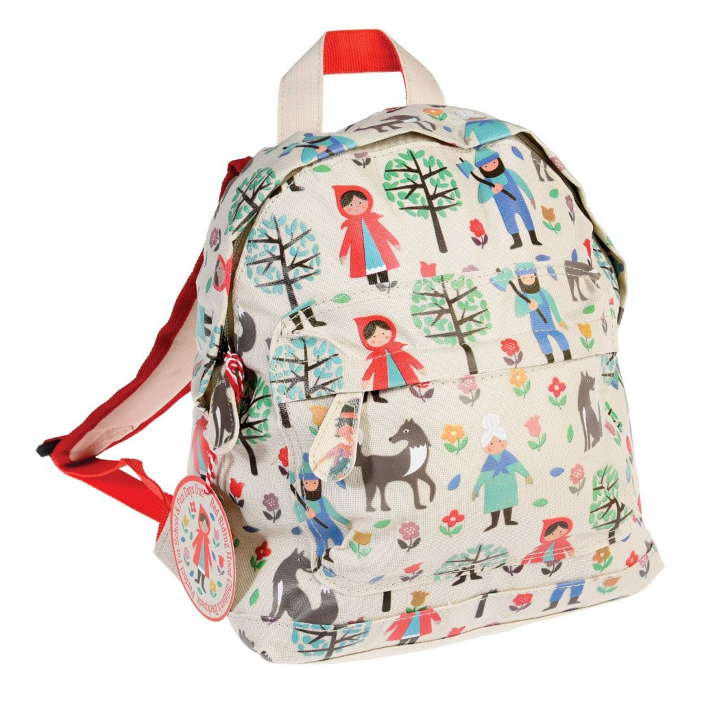 Světle hnědý dětský batoh s motivem červené karkulky Red Riding Hood