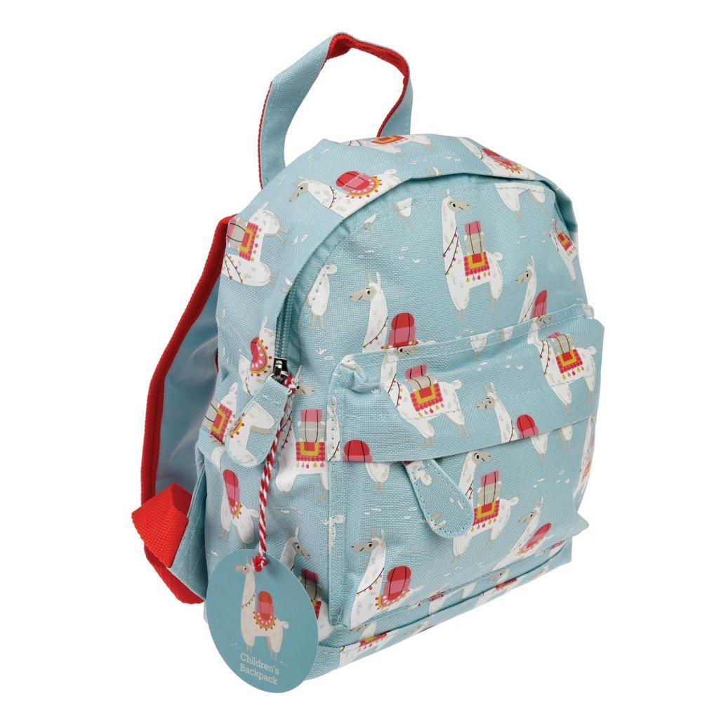 Světle modrý dětský batoh s lamy Dolly Llama