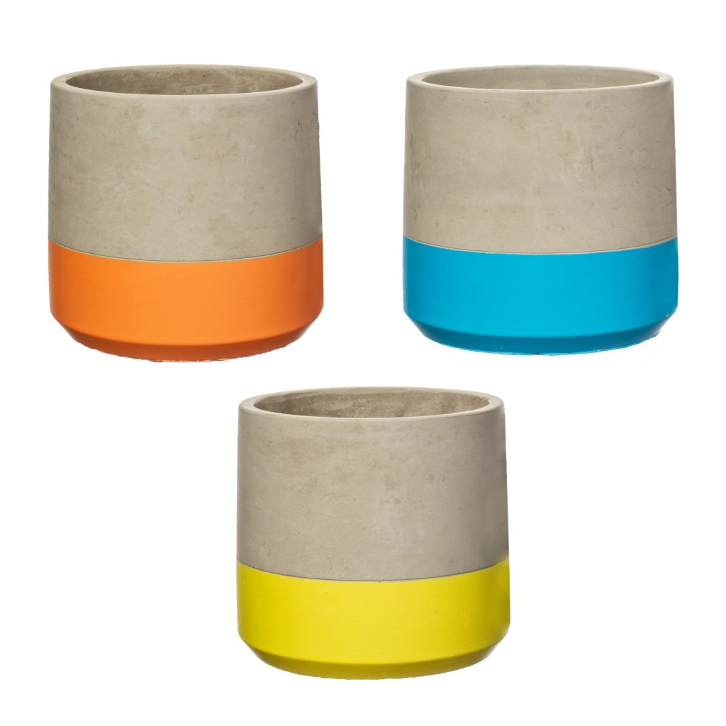 NEW010 A Colour Bloock Cement Planters 3 Assorted copy