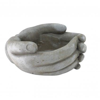 Kameninový květináč ve tvaru ruky