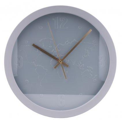 1188 sede nastenne hodiny s mapou sveta
