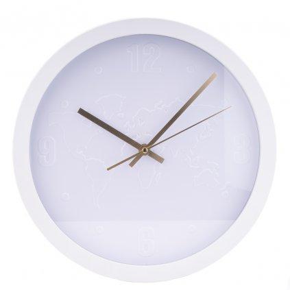 1191 bile nastenne hodiny s mapou sveta