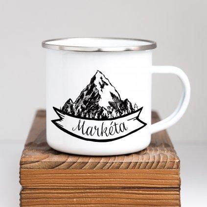 Bílý plecháček Hory s vlastním jménem 360ml