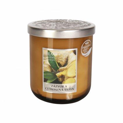 Střední svíčka Zázvor a citronová tráva 110g