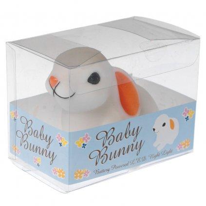 Dětské noční LED světýlko ve tvaru králíčka Baby Bunny