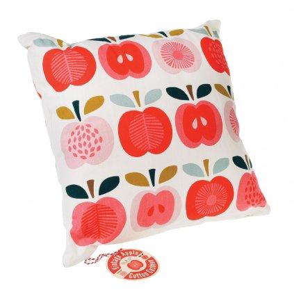 Dekorativní bavlněný polštář se vzorem jablek