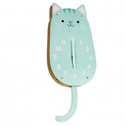 1353 2 detske nastenne hodiny ve tvaru kocky cookie the cat