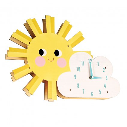 1362 5 1362 2 detske nastenne hodiny ve tvaru slunce a mraku hello sunshine