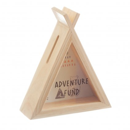 LDW203 B Bear Camp Adventure Fund Money Box Side