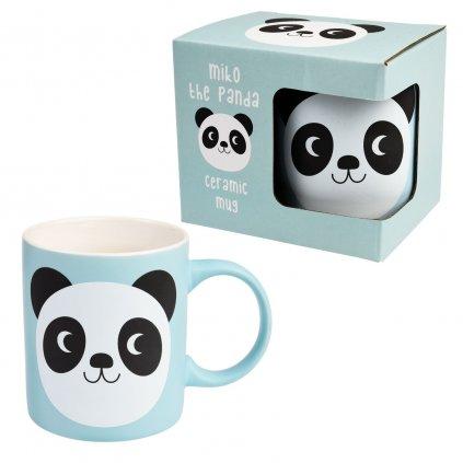 Modrý keramický hrníček s motivem pandy Miko The Panda 350ml
