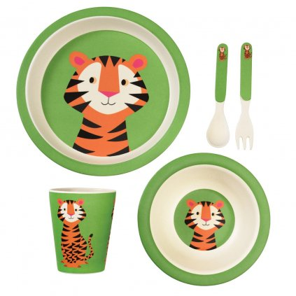 1794 2 1794 1 sada detskeho bambusoveho nadobi s motivy tigra teddy the tiger
